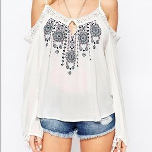 Abercrombie and Fitch Cold Shoulder Top